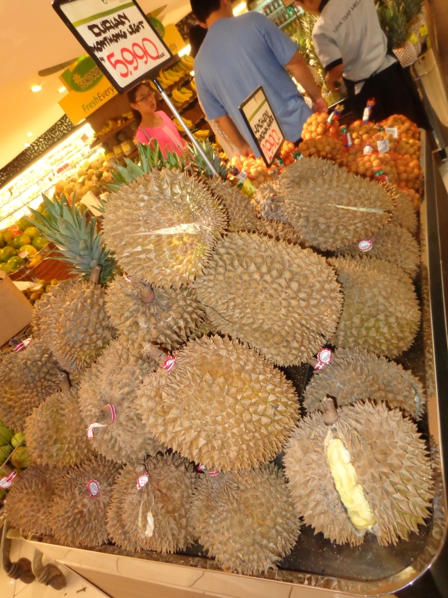 Durian fruit at the mall's market