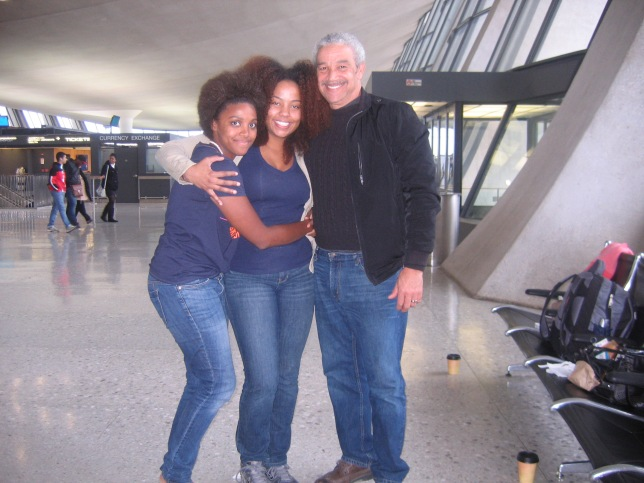 My dad, my Jadie & me at the airport