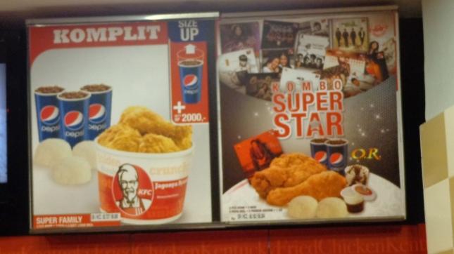 KFC Menu, INDO STYLE BABY!!!
