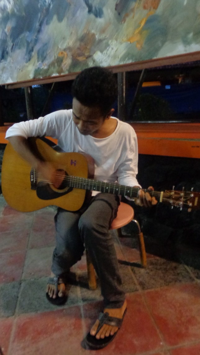 Ke Ke playing the guitar  :)