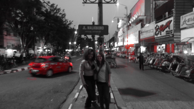 The roomy and I on Malioboro Street.