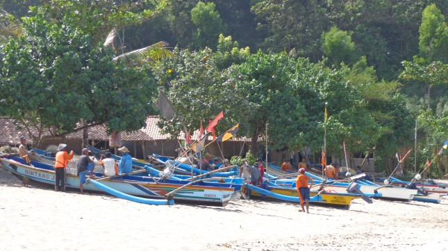 Boats on Siung Pantai.