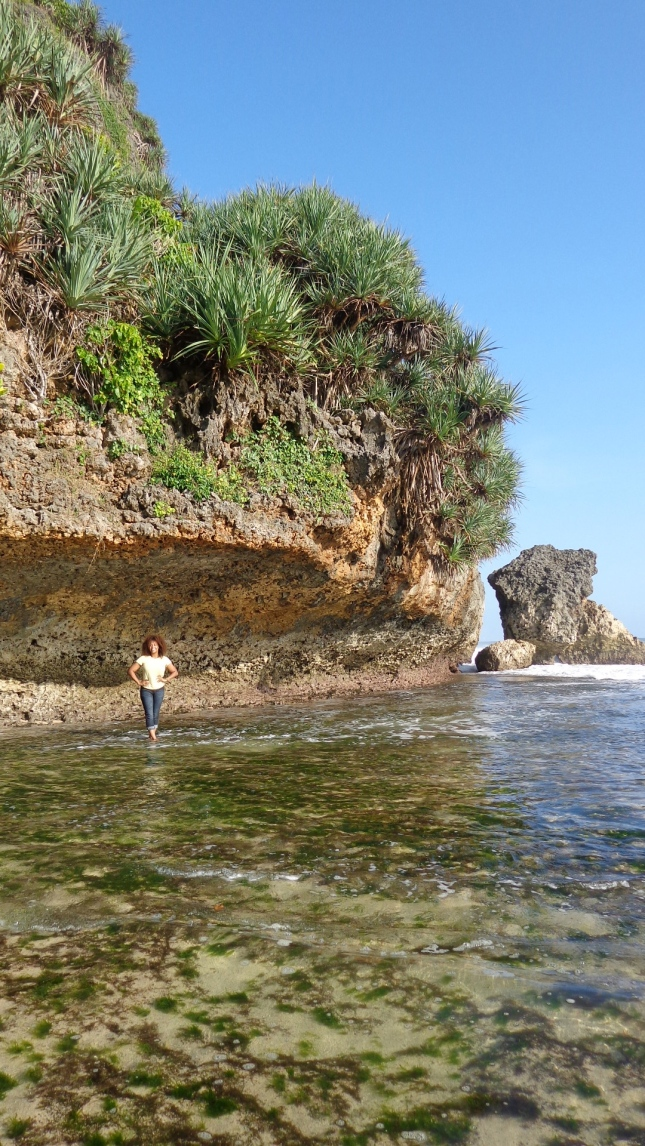At Kukup pantai.