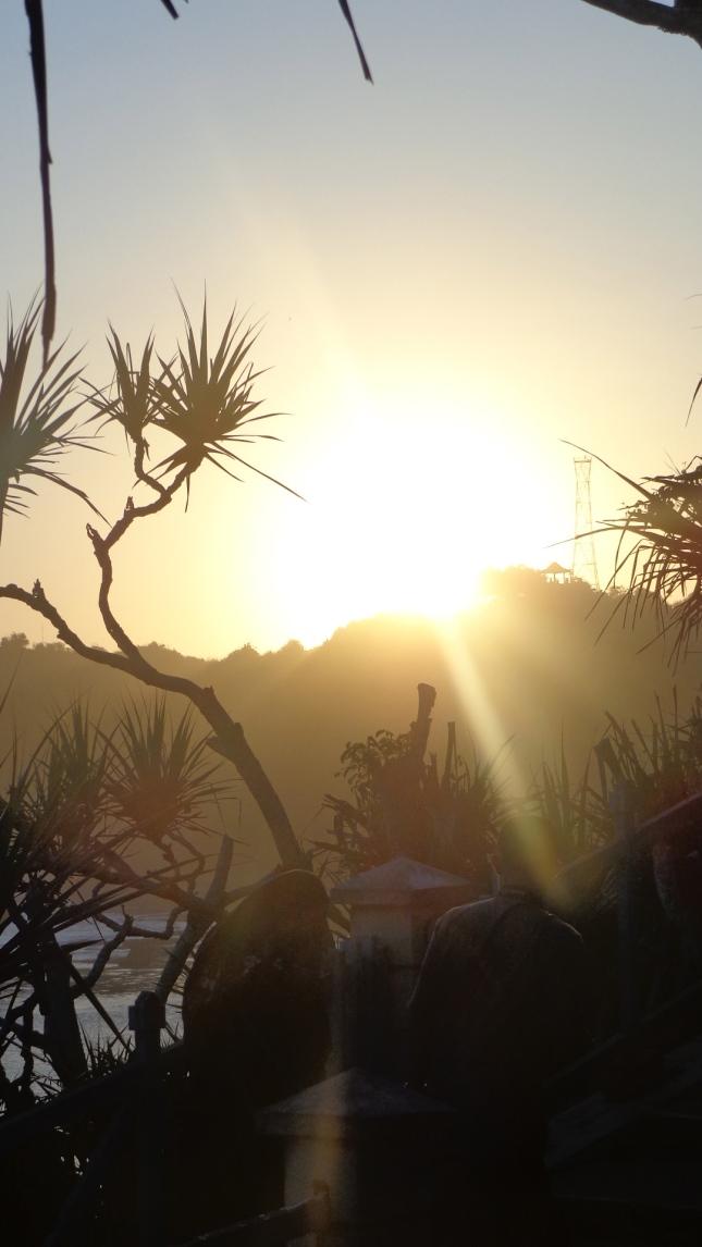 Yogyakarta sunset.