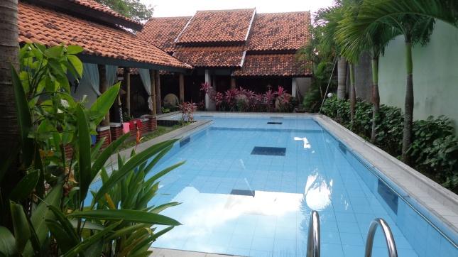 The pool at Rumah Palagan.