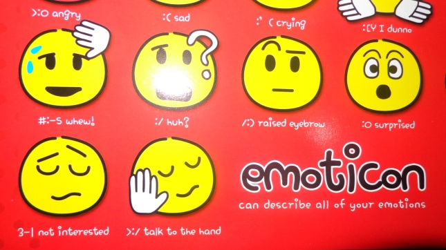 Emoticon - Can describe all of your emotions